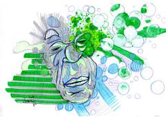 Un homme au vert