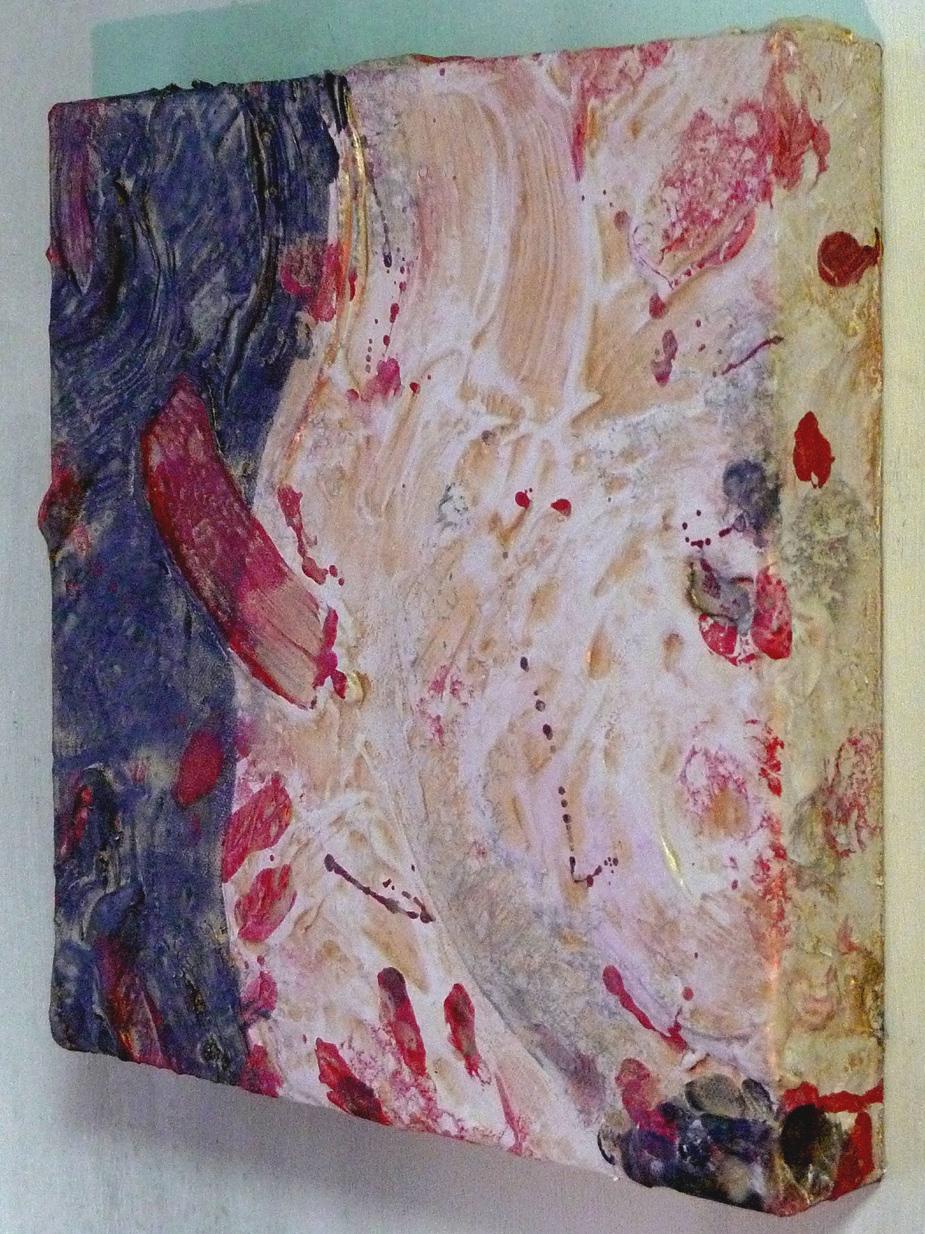 mariella bogliacino - CORPO F - per Rosso di Donne 014 - tecniche miste su tela