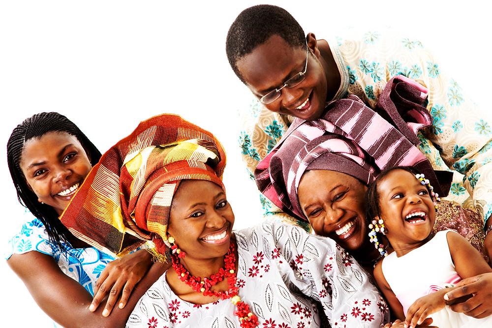 Ime's family portrait in studio