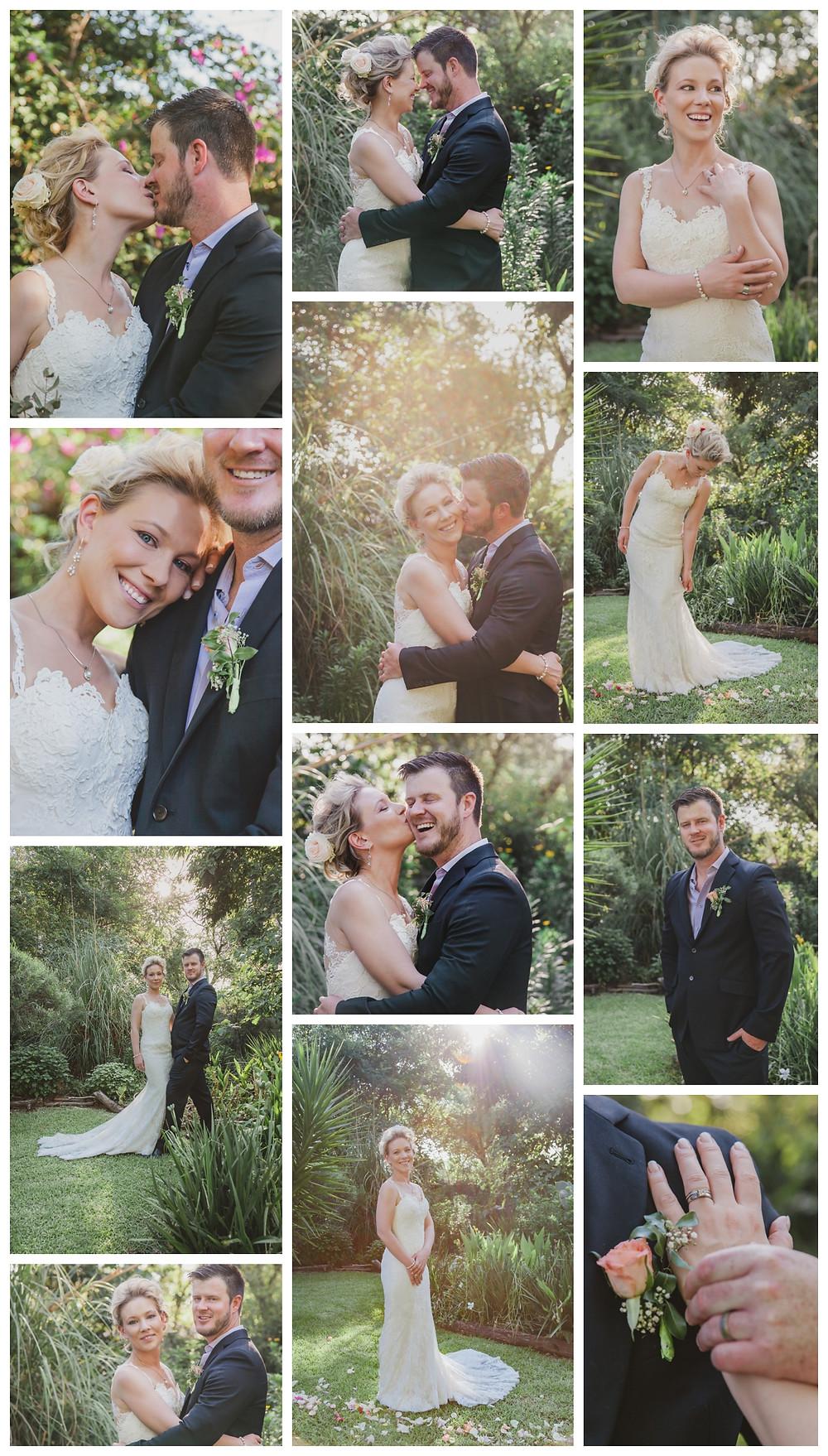 Craig and Nadine's garden wedding ceremony - couple shoot