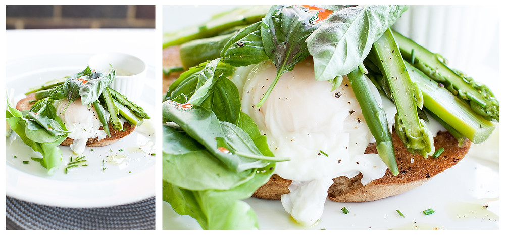 Poached Eggs and Asparagus