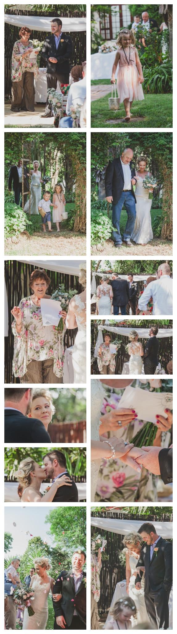 Craig and Nadine's garden wedding ceremony