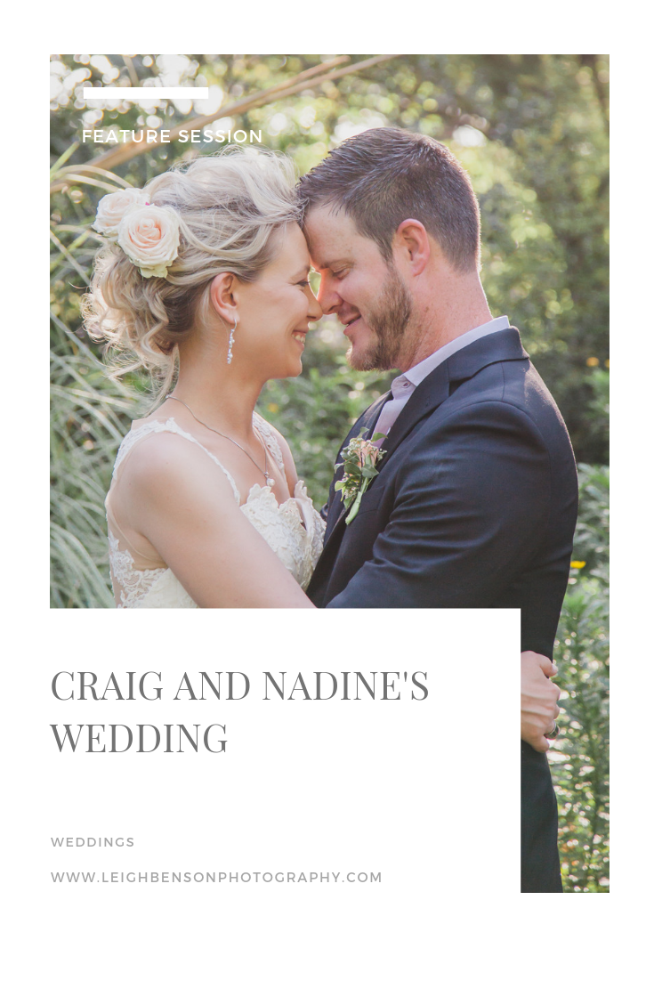 Feature Session - Craig and Nadine's intimate garden wedding