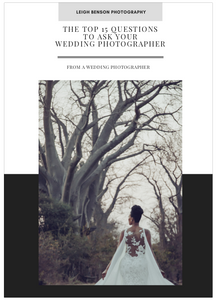 Your Downloadable PDF - The Top 15 Questions to Ask Your Wedding Photographer
