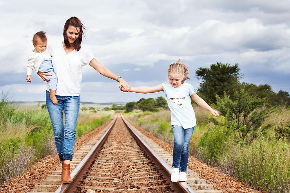 Exploring along the train tracks