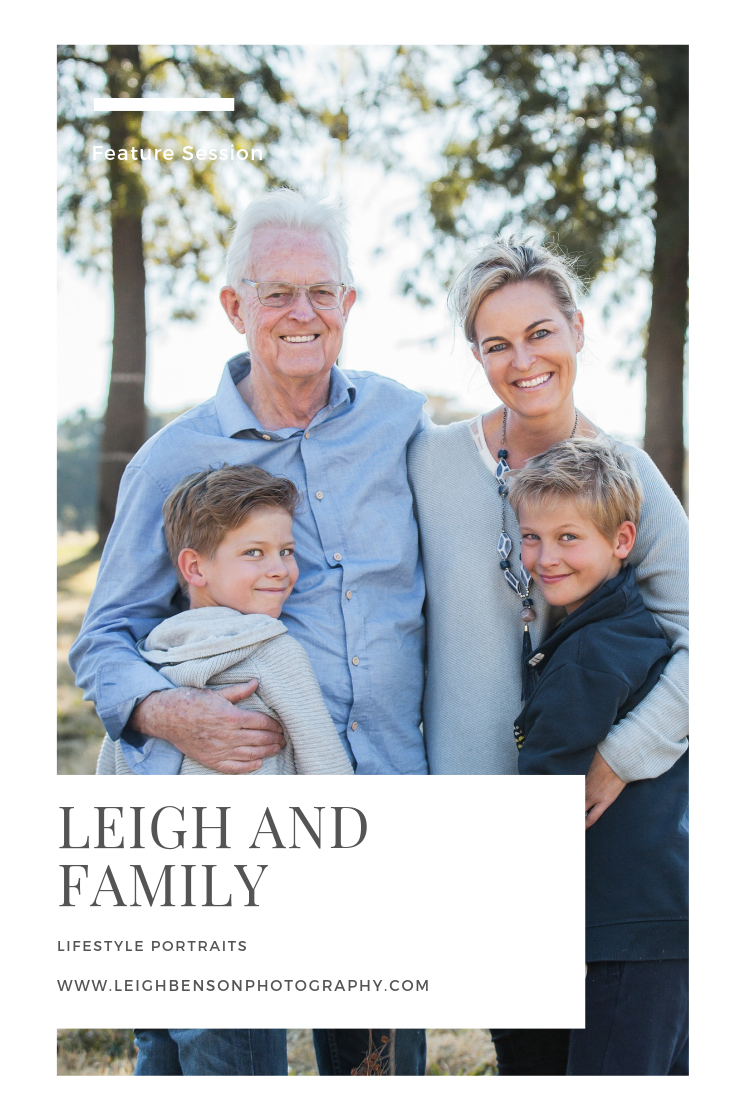 Leigh and Family - Lifestyle Family Portrait Shoot - Delta Park Johannesburg