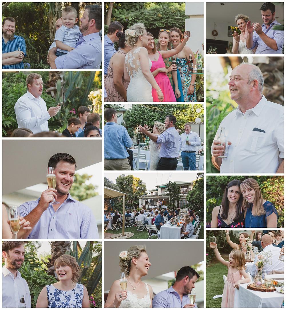 Craig and Nadine's garden wedding ceremony - celebrations