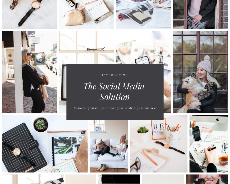 The Social Media Solution - images that showcase yourself and your business