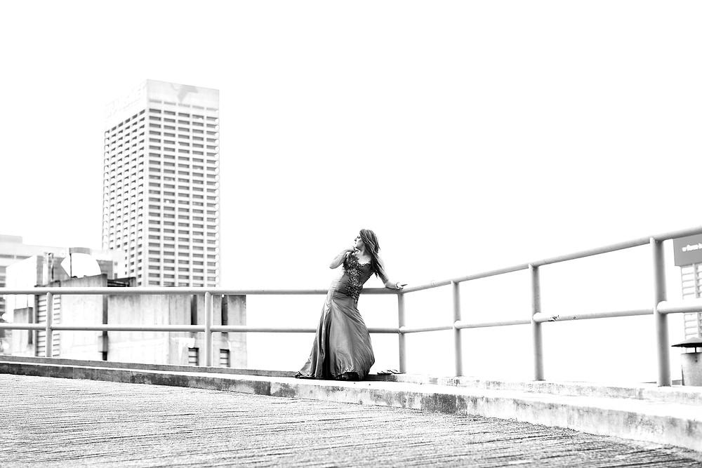 Sjarmante black and white portrait