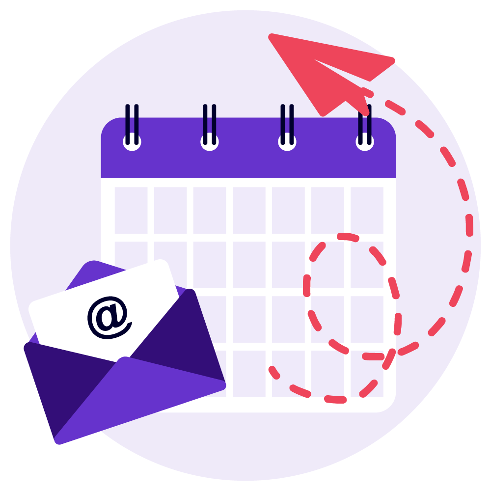 Calendar and email icons