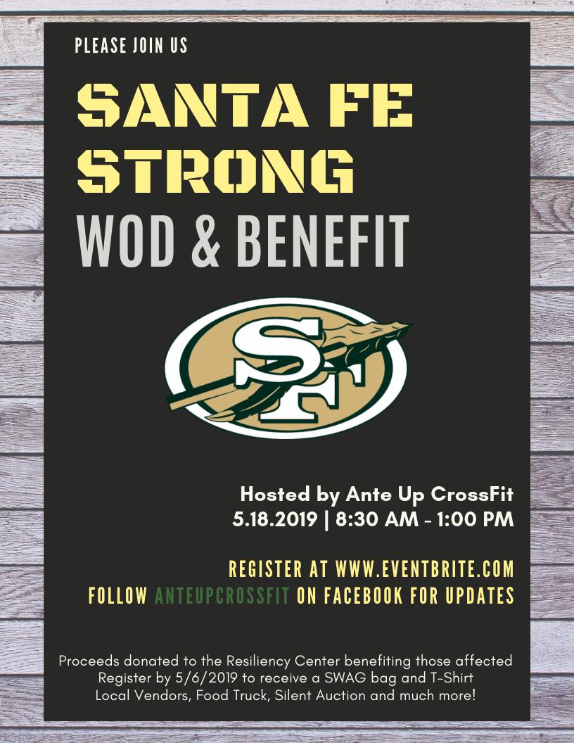 Santa Fe Strong - WOD & Benefit