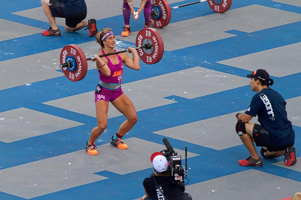 Jenn Jones Heavy DT 2015 CrossFit Games
