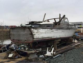 Det er lagt til en side for prosjektbåter/bone yard boats