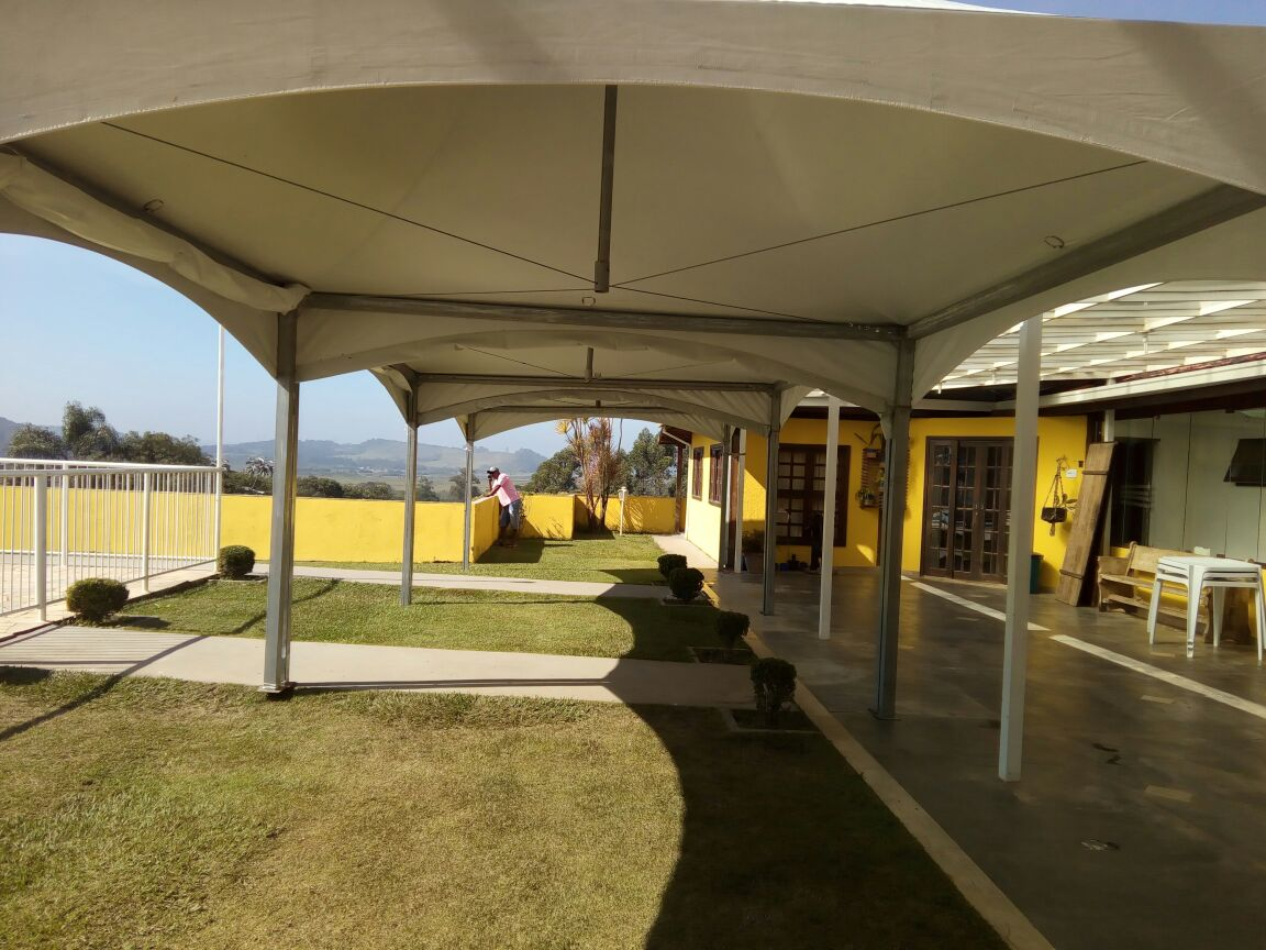 Vista interna da Tenda