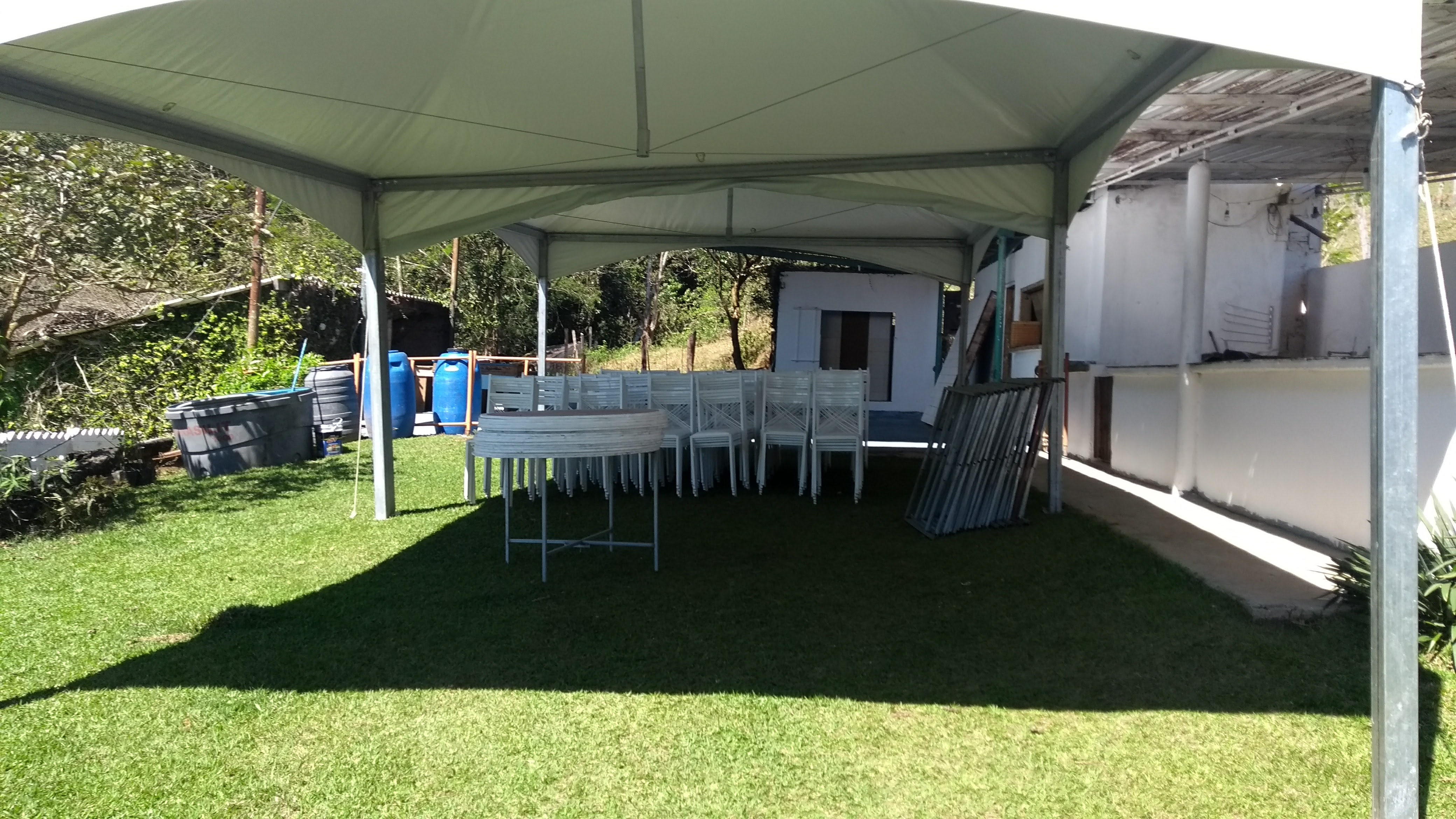 Vista interna tenda 5X10