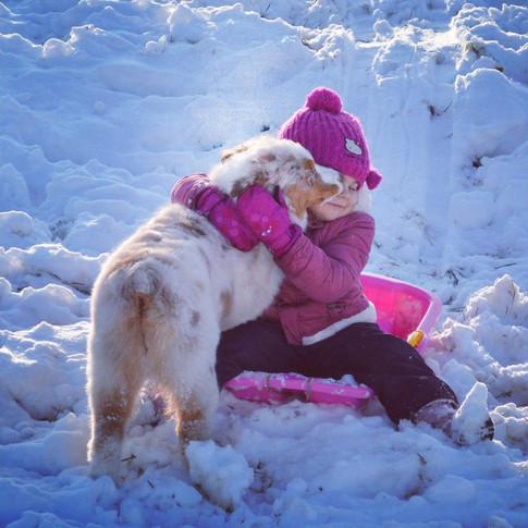 Chanel & Zoe fun in snow