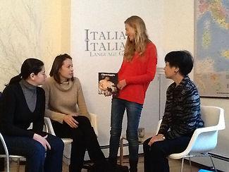 Patrizia with Italian class student at italiano italia