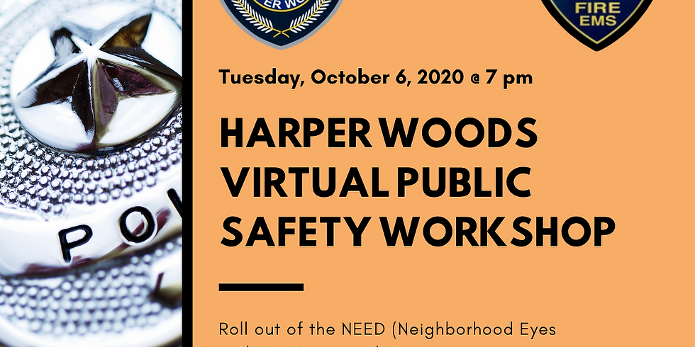 Harper Woods Virtual Public Safety Workshop