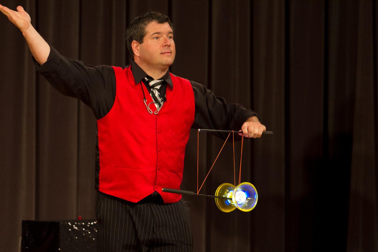 Ray showing off his Chinese Yo-Yo skills