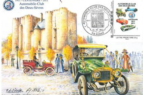 Carte BARRE timbrée Centenaire
