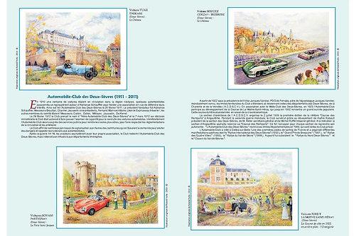 Encart + cartes avec timbres