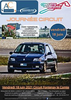 Affiche journée circuit Fontenay le comt