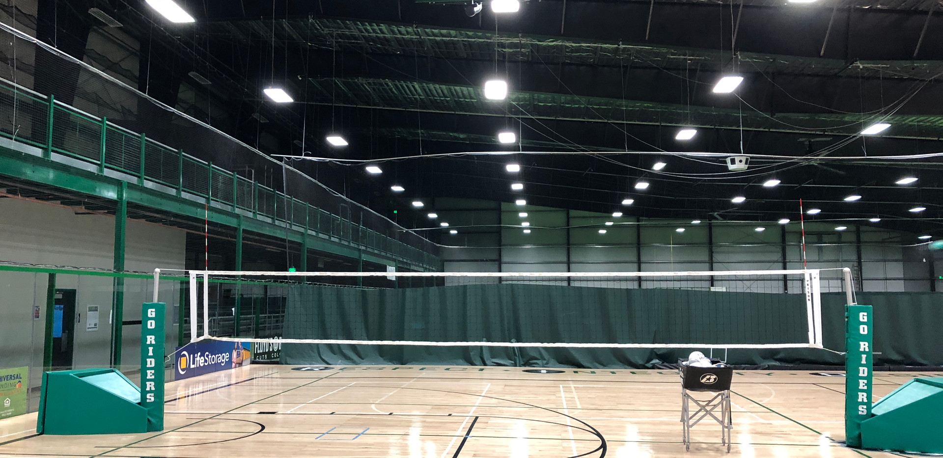 5 Volleyball courts