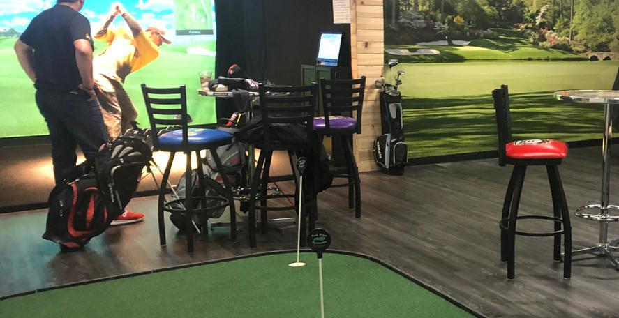 6 full swing golf simulators at Fairways