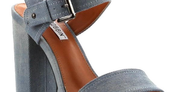 Fuana-Denim Chunky Heels