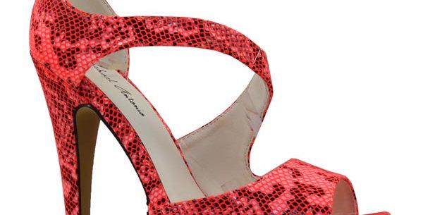 Coral Snake Skin Heels