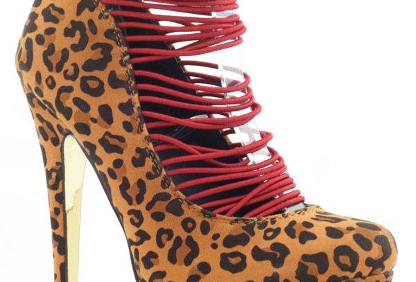 cheetah print ladies heels