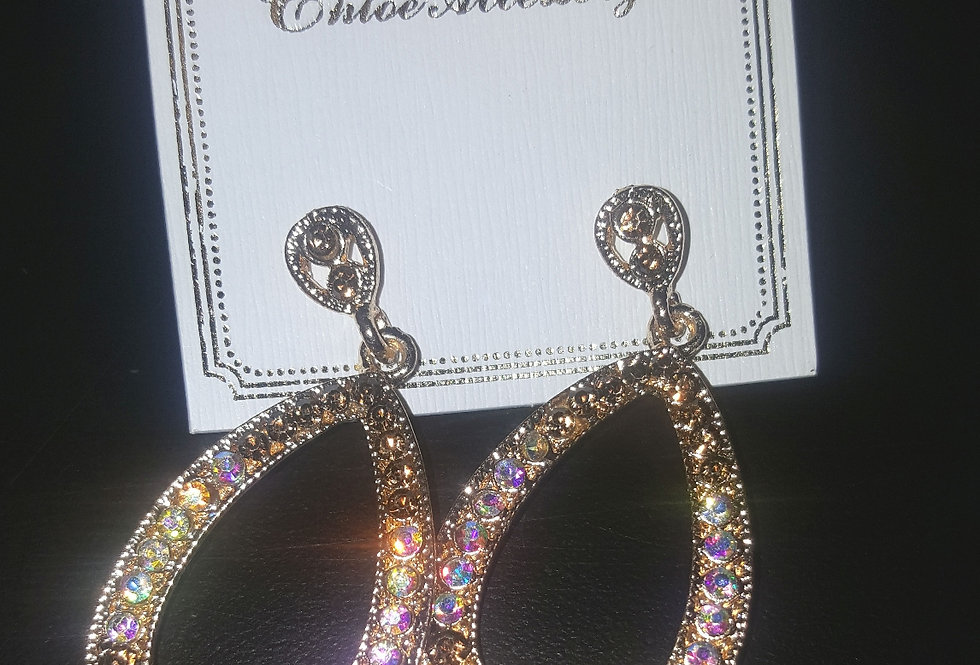Bling Oval Earrings