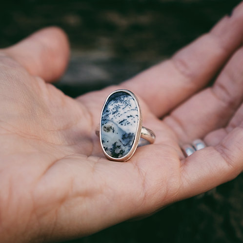 dendritic agate ring 7