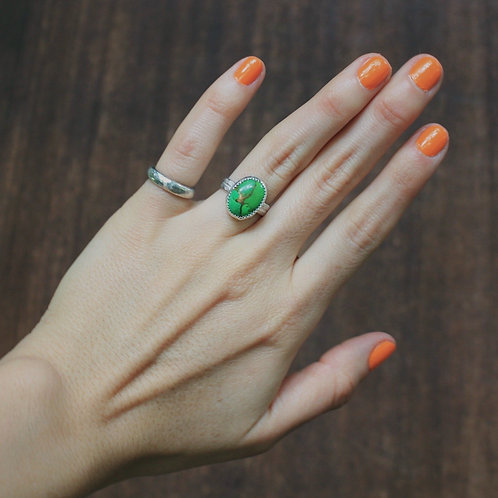 green turquoise ring 5.5