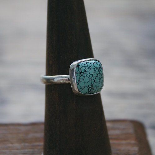 square turquoise ring 6.5