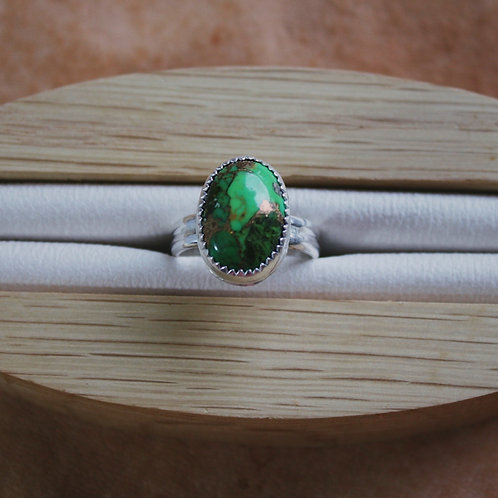 green turquoise ring 5