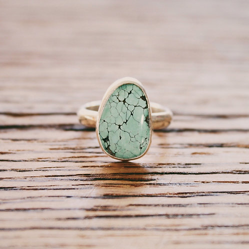 sky cloud turquoise ring 6.5