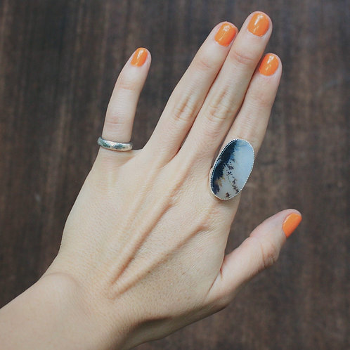 dendritic agate ring 6