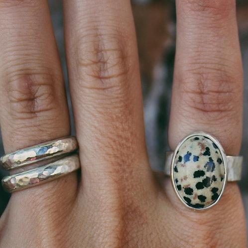 dalmation jasper ring 5.5