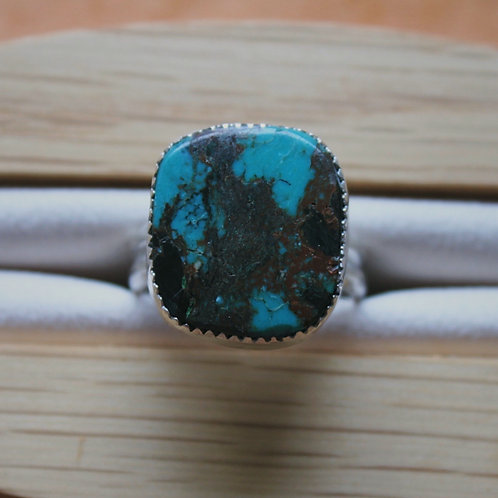 square turquoise ring 7.5