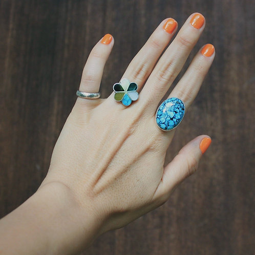 speckled turquoise ring 5.75