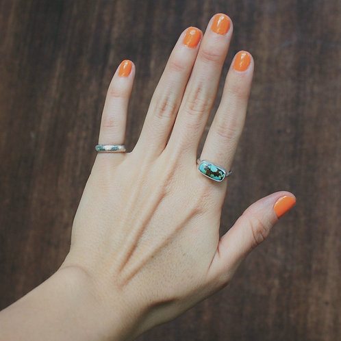 dainty turquoise ring 7.5