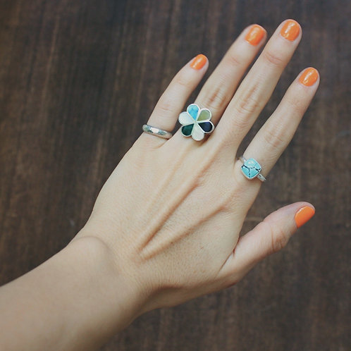 square turquoise ring 7.25