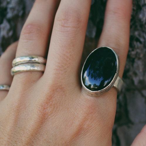 vintage rainbow obsidian ring 8