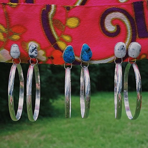 turquoise hoops