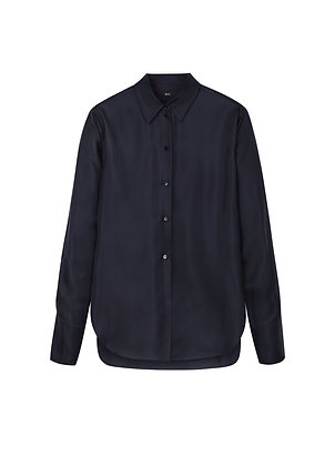 Silk shirt in dark blue