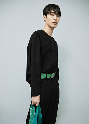 Cotton shirts with zip neck