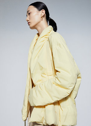 Padded jacket in light yellow