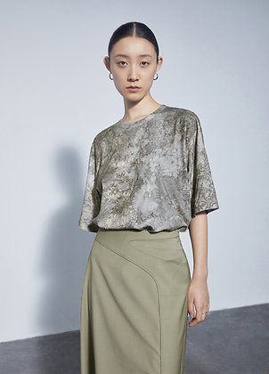 Oversized t-shirt in print