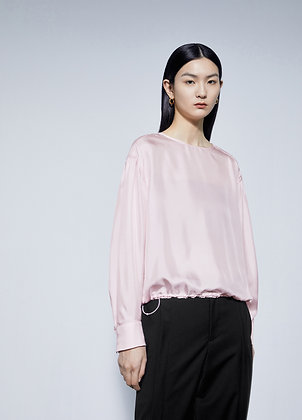 Silk blouse in pink
